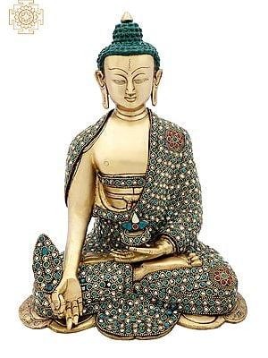 Medicine Buddha with Colorful Inlay Work