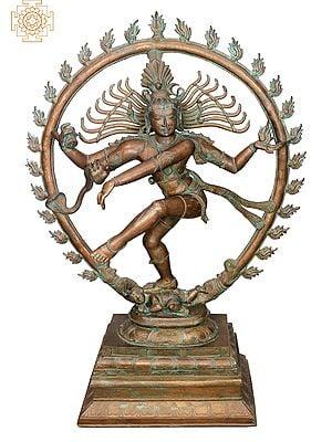 "43"" Nataraja | Handmade | Madhuchista Vidhana (Lost-Wax) | Panchaloha Bronze from Swamimalai"