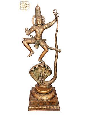 "51"" Large Kalinga Krishna | Handmade | Madhuchista Vidhana (Lost-Wax) | Panchaloha Bronze from Swamimalai"