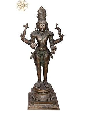 "40"" Large Hariharan | Handmade | Madhuchista Vidhana (Lost-Wax) | Panchaloha Bronze from Swamimalai"