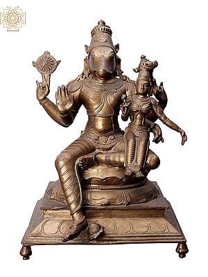 "15"" Hayagreeva with Sri Lakshmi | Handmade | Madhuchista Vidhana (Lost-Wax) | Panchaloha Bronze from Swamimalai"