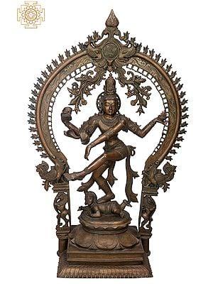 "49"" Large Nataraja | Handmade | Madhuchista Vidhana (Lost-Wax) | Panchaloha Bronze from Swamimalai"