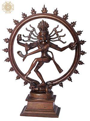 "10"" Nataraja | Handmade | Madhuchista Vidhana (Lost-Wax) | Panchaloha Bronze from Swamimalai"