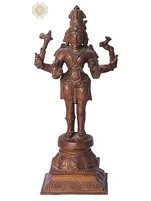 "7"" Pashupatinath (Sivan) | Handmade | Madhuchista Vidhana (Lost-Wax) | Panchaloha Bronze from Swamimalai"