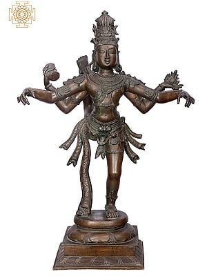"30"" Shiva Tandava | Handmade | Madhuchista Vidhana (Lost-Wax) | Panchaloha Bronze from Swamimalai"