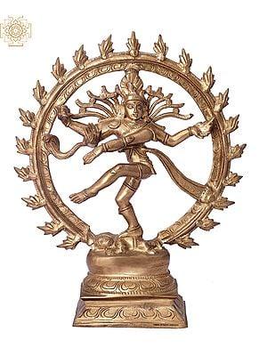"12"" Nataraja | Handmade | Madhuchista Vidhana (Lost-Wax) | Panchaloha Bronze from Swamimalai"