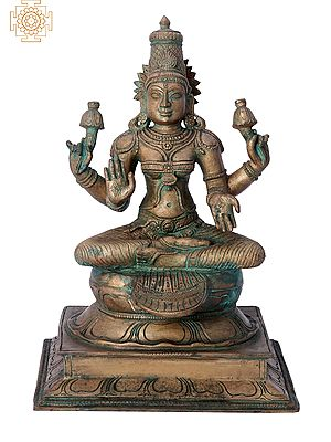 "11"" Devi Parvati | Handmade | Madhuchista Vidhana (Lost-Wax) | Panchaloha Bronze from Swamimalai"