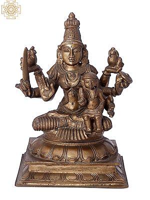 "10"" Shree Santan Lakshmi Mata | Handmade | Madhuchista Vidhana (Lost-Wax) | Panchaloha Bronze from Swamimalai"