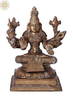 "10"" Devi Lakshmi | Handmade | Madhuchista Vidhana (Lost-Wax) | Panchaloha Bronze from Swamimalai"