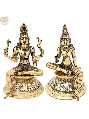 Seated Pashupatinath And Parvati