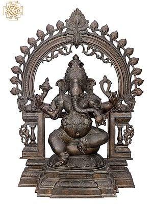 "29"" Bhagawan Ganesha with Big Arch | Handmade | Madhuchista Vidhana (Lost-Wax) | Panchaloha Bronze from Swamimalai"