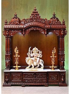 Large Designer Wooden Temple