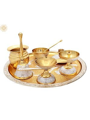 Designer Puja Thali Set