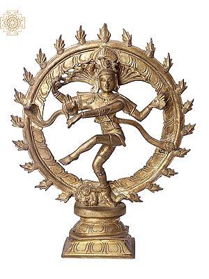 "13"" Nataraja   Handmade   Madhuchista Vidhana (Lost-Wax)   Panchaloha Bronze from Swamimalai"