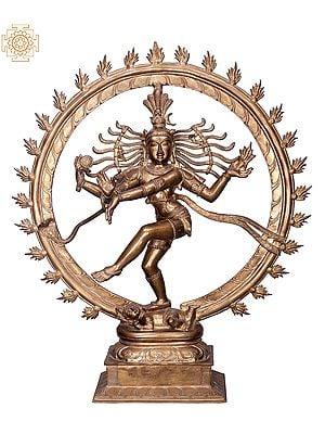 "27"" Nataraja | Handmade | Madhuchista Vidhana (Lost-Wax) | Panchaloha Bronze from Swamimalai"