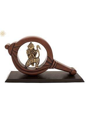 Hanuman Ji Inside Gada (Mace)