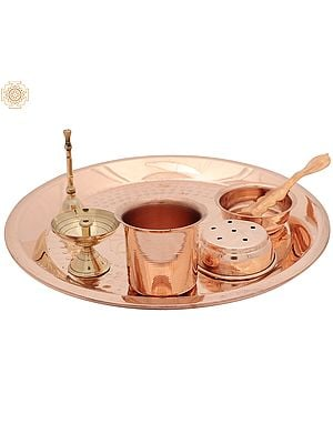 Copper Puja Thali Set