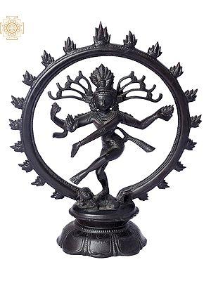 "8"" Black Nataraja | Handmade | Madhuchista Vidhana (Lost-Wax) | Panchaloha Bronze from Swamimalai"