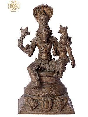"6"" Bhagawan Varaha with Bhudevi | Handmade | Madhuchista Vidhana (Lost-Wax) | Panchaloha Bronze from Swamimalai"