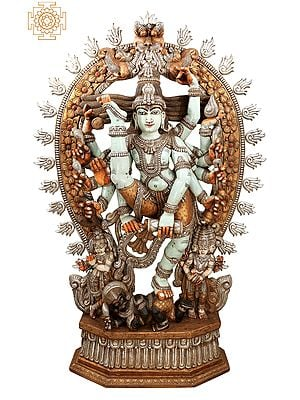 "88"" Superfine and Super Large Urdhava Tandava (Shiva Tandava) | Dancing Shiva Statue | Natraj Statue | Lord of The Dance | Shiva Statue| Lord Nataraja |"