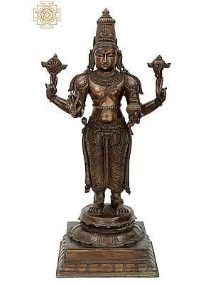 "24"" Dhanvantari | Handmade | Madhuchista Vidhana (Lost-Wax) | Panchaloha Bronze from Swamimalai"