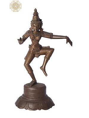 "9"" Dancing Sivagami (Goddess Uma) | Handmade | Madhuchista Vidhana (Lost-Wax) | Panchaloha Bronze from Swamimalai"