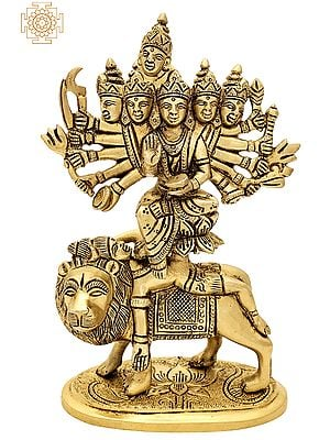 "8"" Kamakhya Devi | Brass Statue | Handmade | Made In India"