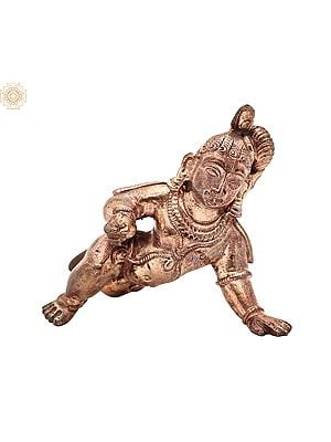 "2.5"" Small Laddoo Gopala | Handmade | Madhuchista Vidhana (Lost-Wax) | Panchaloha Bronze from Swamimalai"