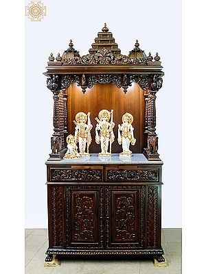 """81"""" Large Designer Wooden Temple 