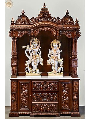 """84"""" Large Designer Wooden Temple 