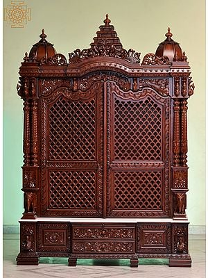 """96"""" Super Large Designer Wooden Temple 
