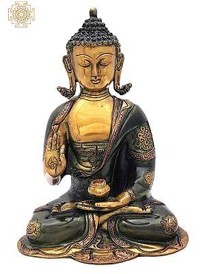 """10.2"""" Tibetan Buddhist Healing Buddha   Medicine Buddha   Brass Statue   Handmade   Made In India"""