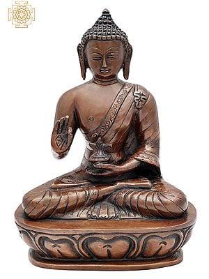 """9.5"""" Tibetan Buddhist Healing Buddha   Medicine Buddha   Brass Statue   Handmade   Made In India"""