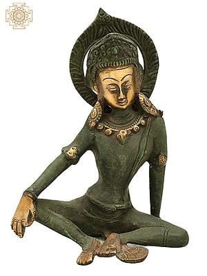 """7"""" Seated Indra, The Head Lowered 