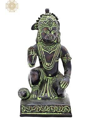 "5"" Lord Hanuman Ji | Handmade | Blessing Hanuman Statue | Bajrangbali Sculpture | Made in India"