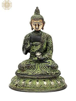 "6.5"" Lord Buddha Brass Statue | Handmade | Buddha in Meditation Brass Idol | Home Decor Items | Made In India"