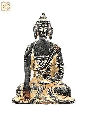 "4.0"" Tibetan Buddhist Lord Buddha | Handmade | Buddha Shakyamuni Brass Statue | Home Decor Items | Made In India"