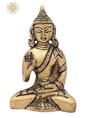 3.0þ Tibetan Buddhist Lord Buddha | Handmade | Buddha Shakyamuni Brass Statue | Home Decor Items | Made In India