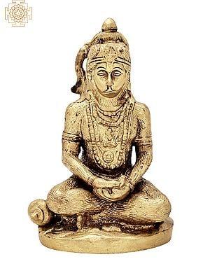 "5"" Small Bhagwan Hanuman Ji Statue | Handmade | Lord Hanuman Brass Statue | Ram Bhakt | Anjaneya | Home Decor | Made in India"