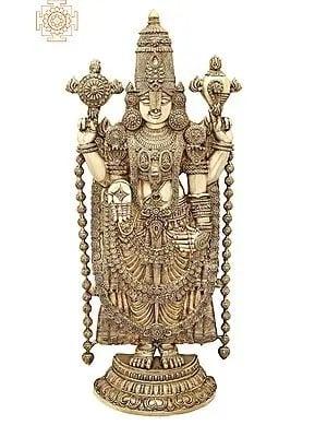 "47"" Large Superfine Lord Venkateshvara as Balaji at Tirupati | Brass Statue | Handmade | Made In India"