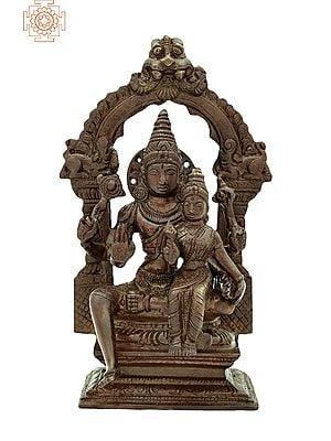 "7"" Lord Vishnu with Goddess Lakshmi | Handmade | Lord vishnu and Goddess Lakshmi Brass Statue | Made in India"