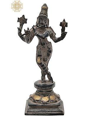 "7.2"" Lord Murli Krishna Statue   Handmade   Krishna Statue for Home Decor   Gopal Statue   Made in India"