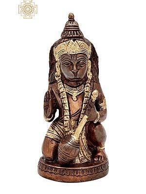 "5.8"" Bhagwan Hanuman Ji Statue | Handmade | Lord Hanuman Ji Brass Statue | Anjaneya | Home Decor | Made in India"