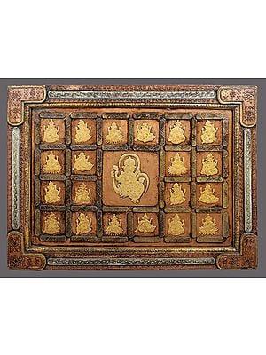 "29"" Ganesha Wall Panel | Wooden Panel  | Handmade Art | Made In India"