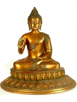 Blessing Buddha Seated on Lotus Throne