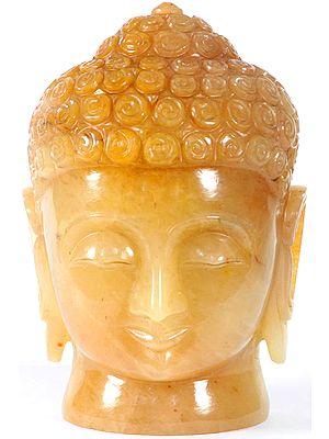 Buddha Head in Yellow Aventurine