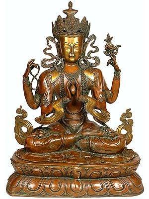 Tibetan Buddhist Deity- Large Size Chenrezig (Shadakshari Lokeshvara)