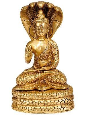 The Serpent Muchalinda Shelters Lord Buddha