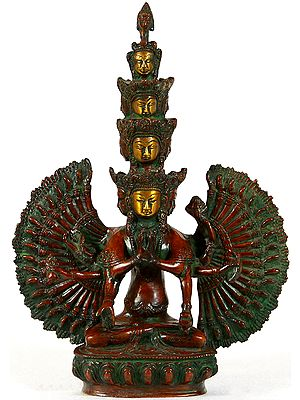 Tibetan Buddhist Eleven Headed Thousand Armed Avalokiteshvara