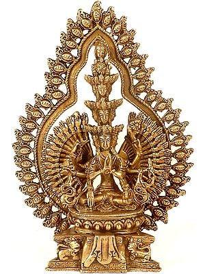Tibetan Buddhist Thousand-Armed Seated Avalokiteshvara